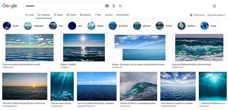 Buscar imágenes libres en Google